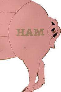 illustration of rear half of a pig