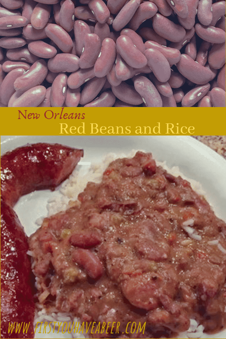 New Orleans Red Beans and Rice - The creamy and smokey New Orleans Tradition is red kidney beans simmered with the Trinity and flavored with sausage and seasoning meats then served over rice. Unbelievably delicious and undeniably simple to make.