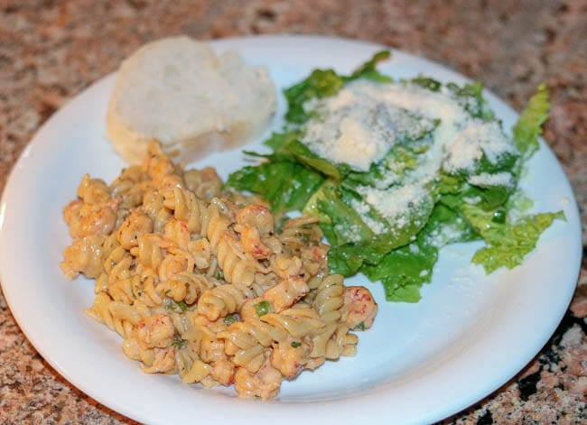 Crawfish Monica with a Sensation Salad