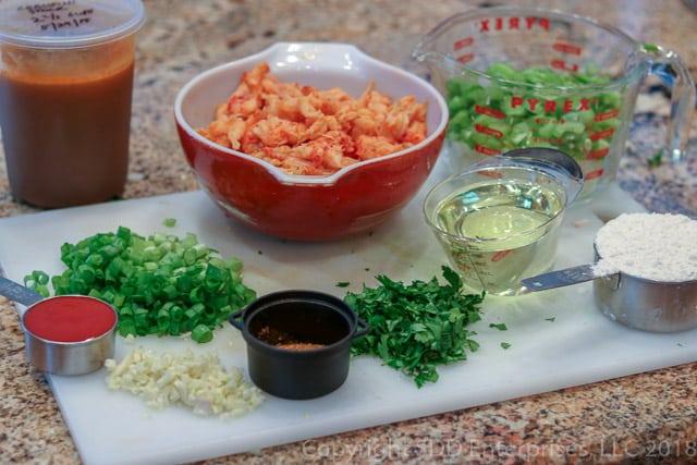 Crawfish Bisque Ingredients