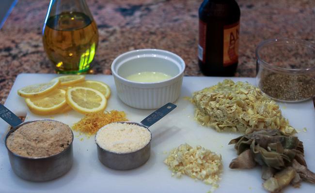 Stuffed Artichoke Casserole Ingredients