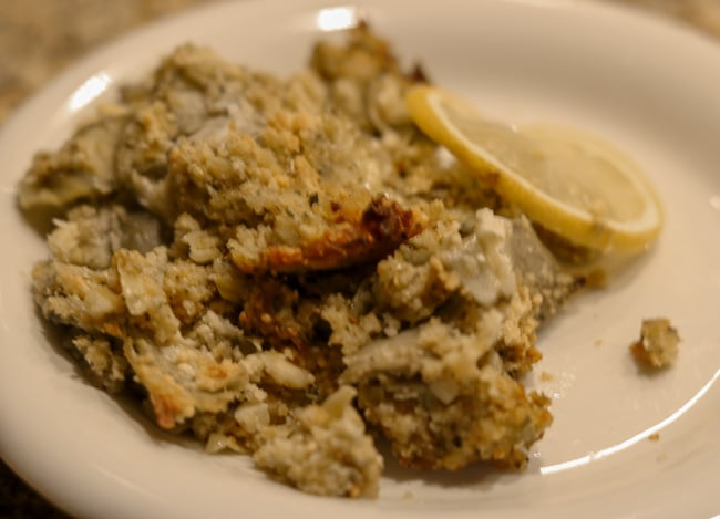 Stuffed Artichoke Casserole on a Plate