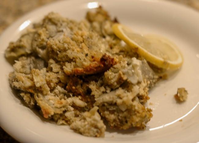 Stuffed Artichoke Casserole on a Plate