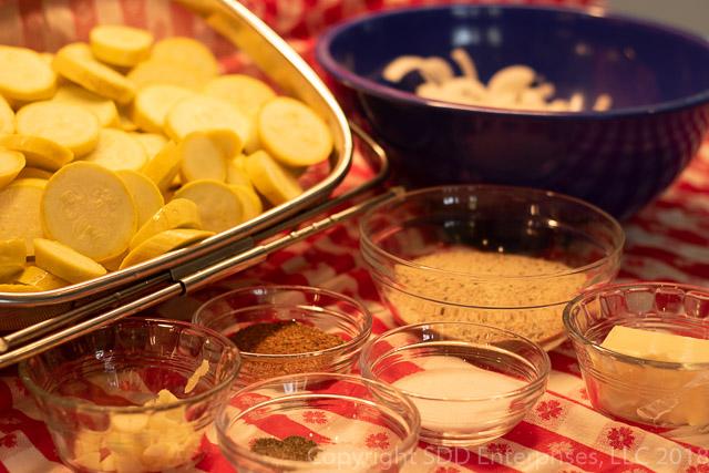 Yellow Squash Casserole Ingredients