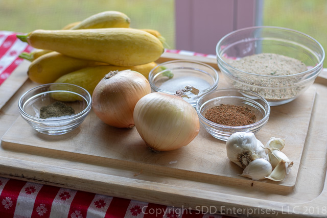 ingredients for squash casserole