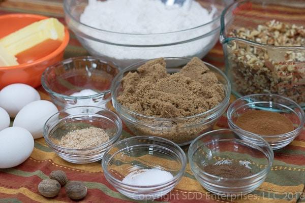 Fruit cake batter ingredients
