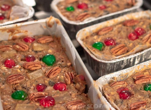 Fruit cakes right out of the oven