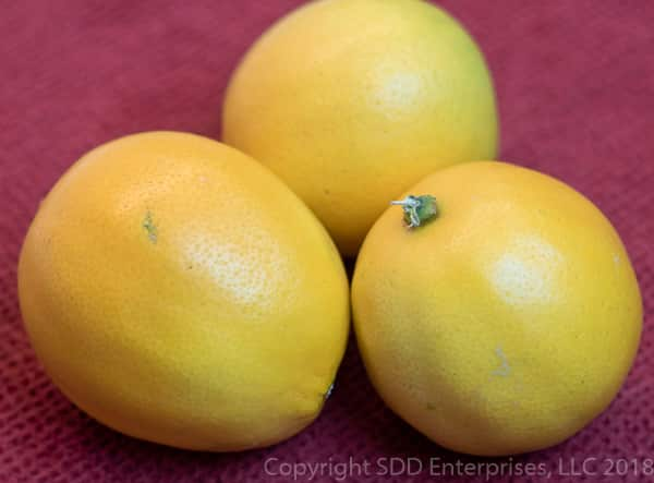three meyer lemons