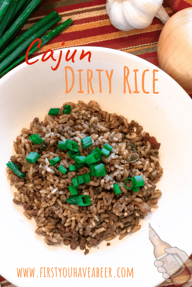 Dirty Rice, the traditional Cajun/Creole favorite combines browned meats and chicken livers with the trinity (onions, green peppers and celery), Cajun/Creole spices and cooked white rice.