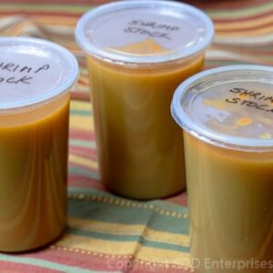 3 home made chicken stock in quart containers