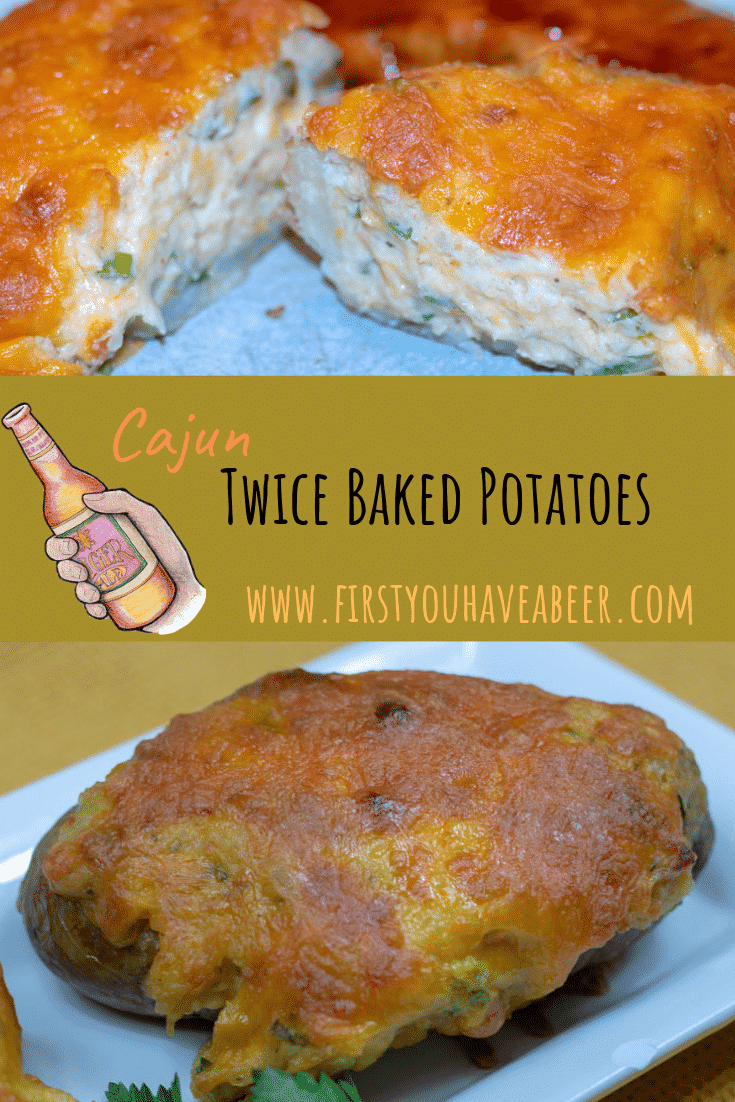 Cheesy, creamy and gooey potatoes baked twice with Cajun flavors.