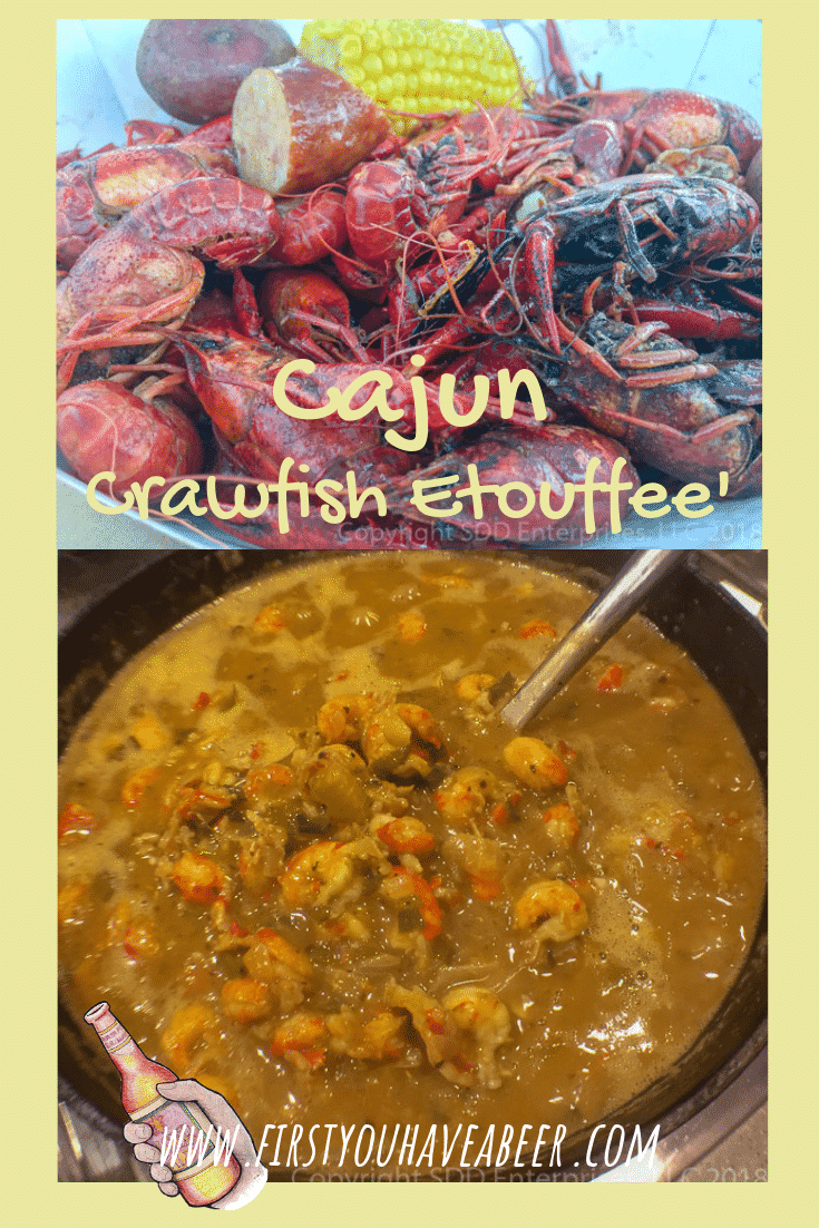 Crawfish tails smothered in rich stock and the Holy Trinity and served over rice-a Cajun Icon!