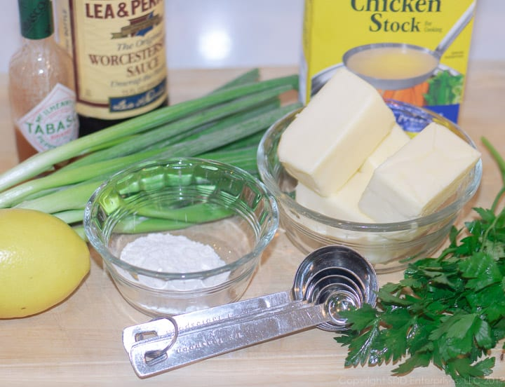 ingredients for Meuniere sauce
