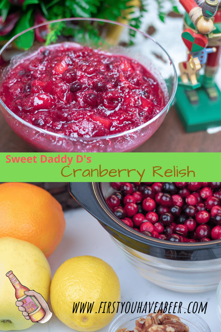 Cranberry Relish is that little something that makes the holiday meal just a little more special. This simple recipe combines some orange, apple and lemon with the tartness of fresh cranberries and balances the whole thing with some sweetness. Try a little with your turkey, duck or goose or your holiday-ham. It will even add a little spark to the leftover turkey and ham sandwiches!