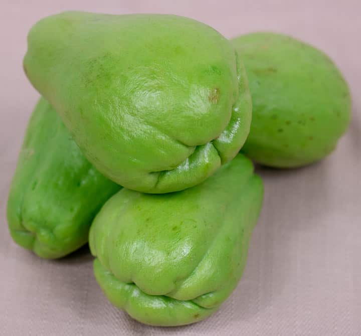4 whole mirliton or chayote squash
