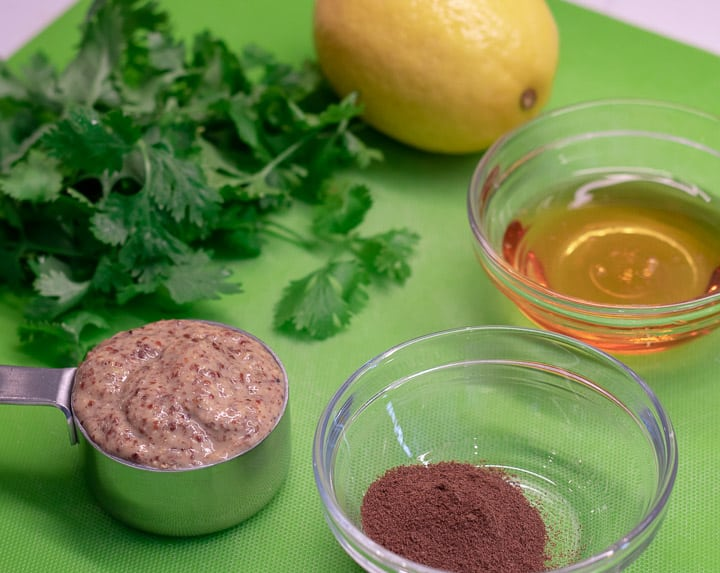 creole mustard, cilantro, allspice, lemon and honey for cilantro creole mustard marinade