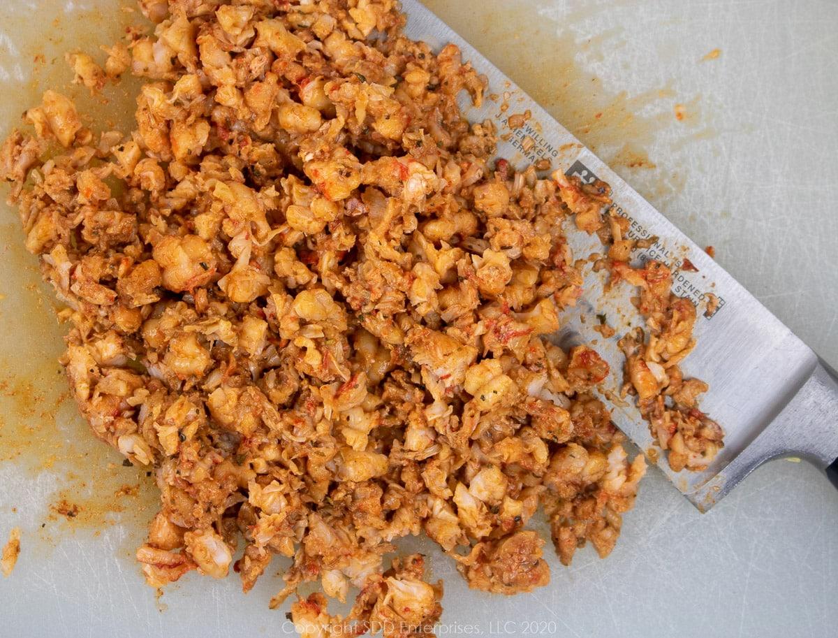 chopped louisiana crawfish tails