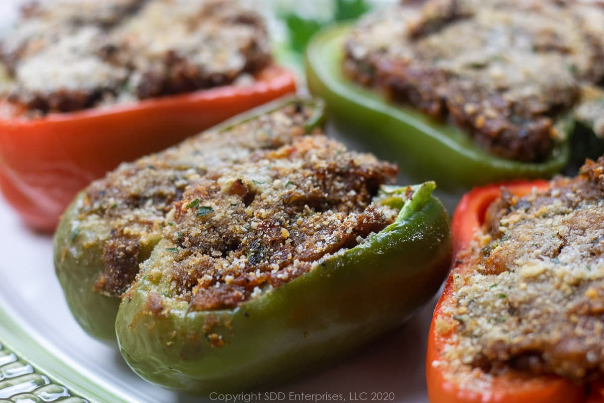 baked stuffed bell peppers with crawfish