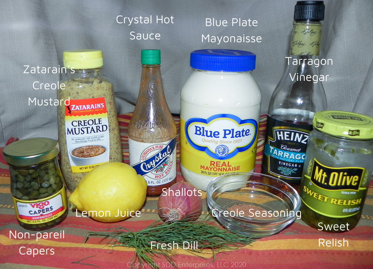 all ingredients for creole tartar sauce