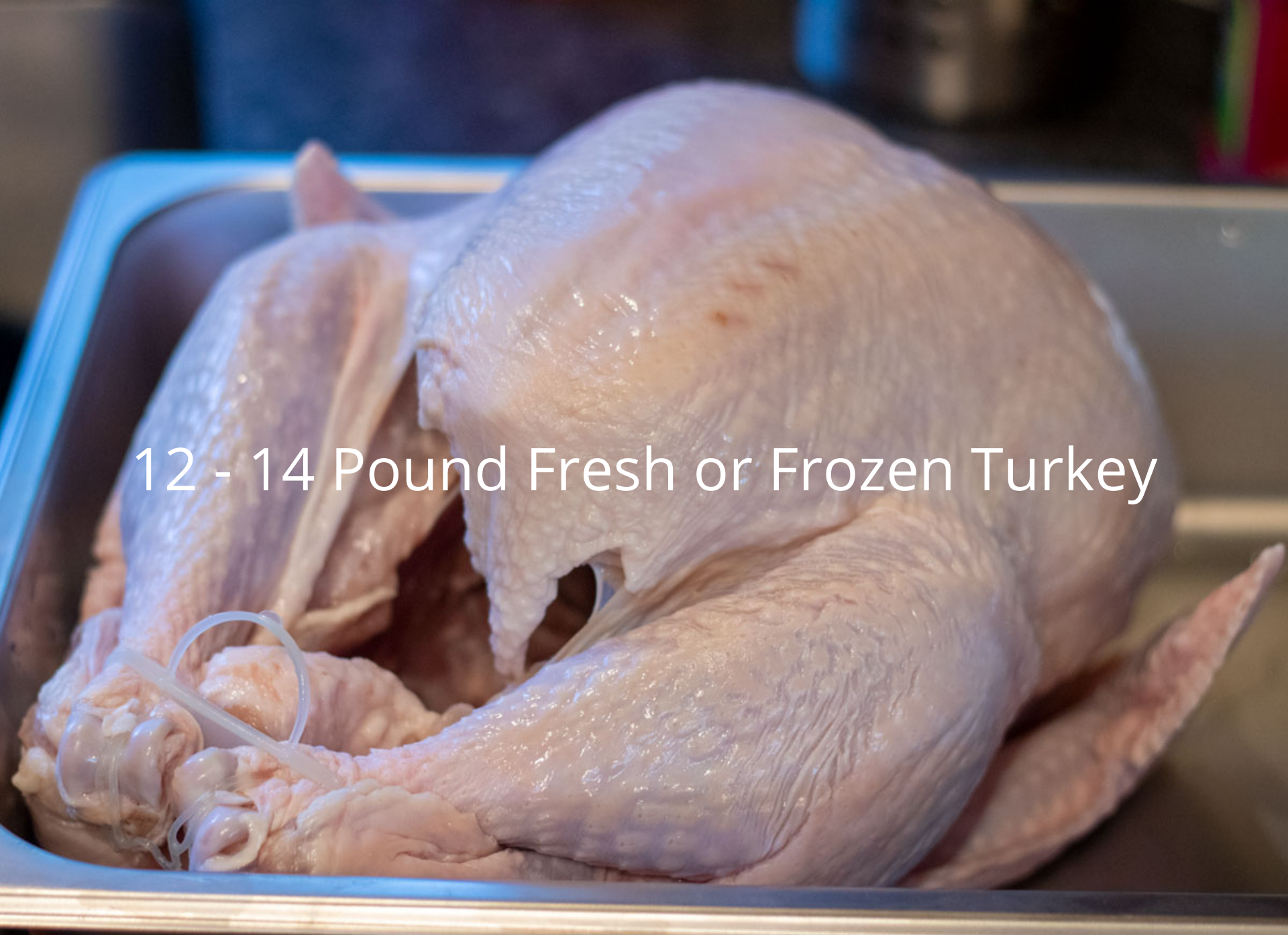 uncooked whole turkey in a roasting pan