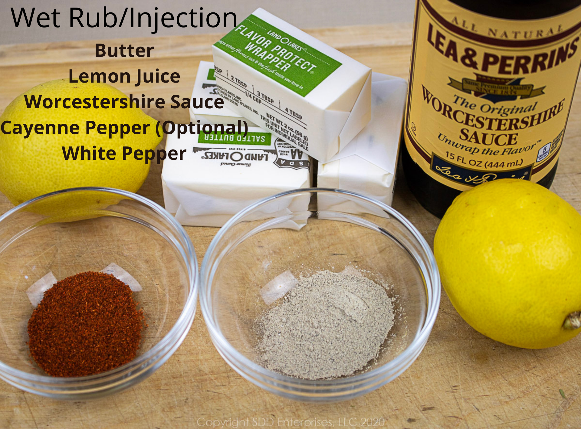 ingredients for wet rub/injection for smoked turkey