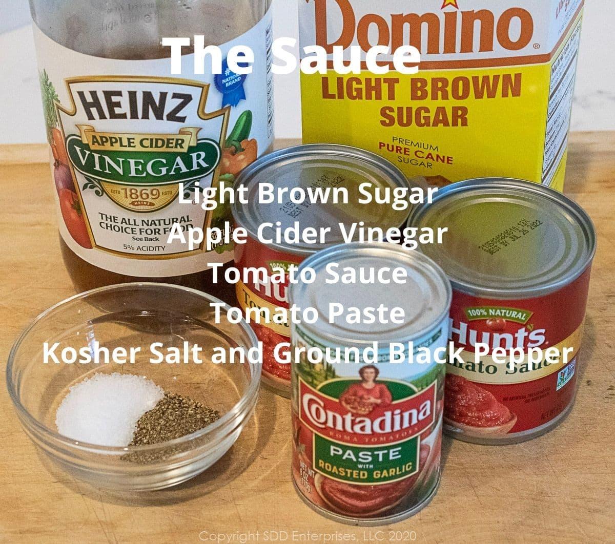 ingredients for meatloaf sauce