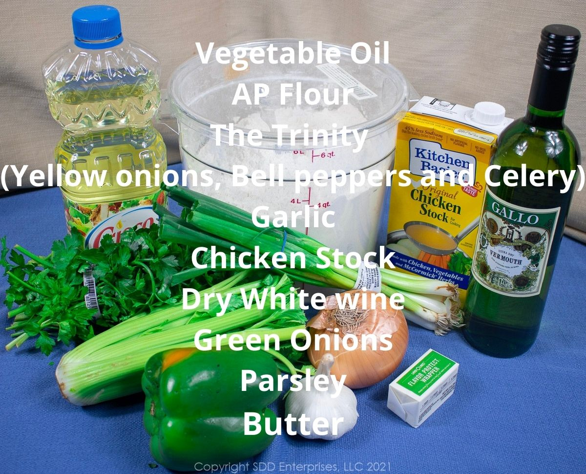 ingredients for smothered chicken