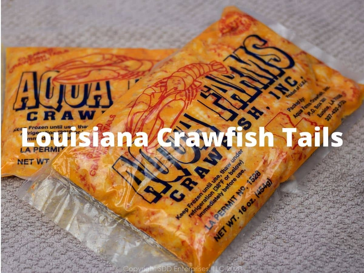Two 1-pounds packages of Louisiana crawfish tails