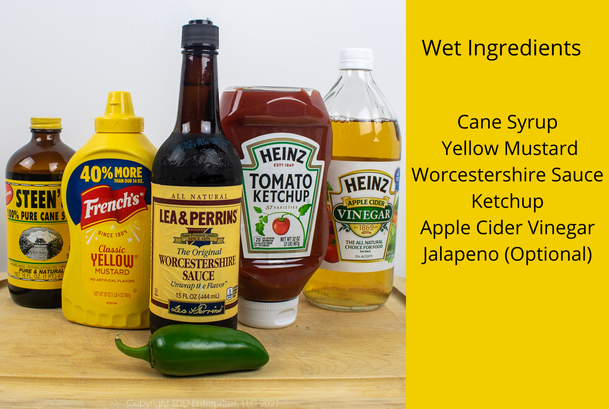wet ingredients for bbq sauce