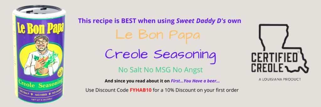 coupon for Le Bon Papa Creole Seasoning